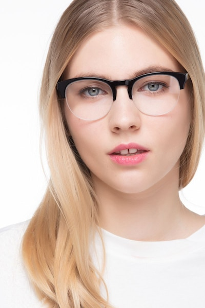 Zoot Black Acetate Eyeglass Frames for Women from EyeBuyDirect, Front View