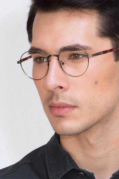 Fitzgerald Bronze Metal Eyeglass Frames for Men from EyeBuyDirect