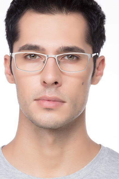 Germantown  Silver  Metal Eyeglass Frames for Men from EyeBuyDirect, Front View