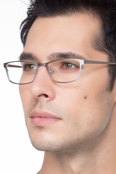 Germantown  Silver  Metal Eyeglass Frames for Men from EyeBuyDirect