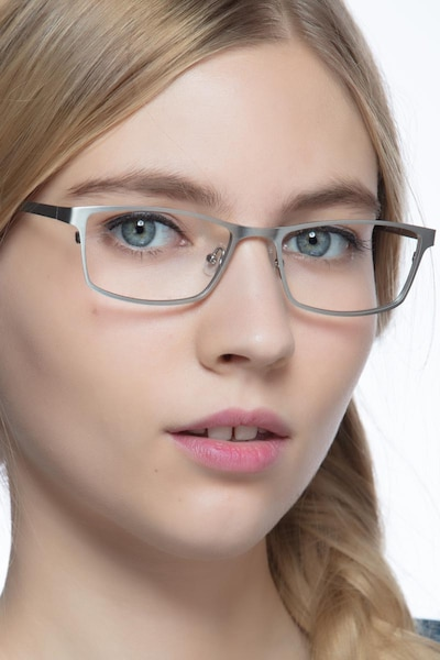 Germantown  Silver  Metal Eyeglass Frames for Women from EyeBuyDirect