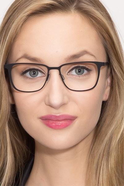 Slight Matte Black Metal Eyeglass Frames for Women from EyeBuyDirect