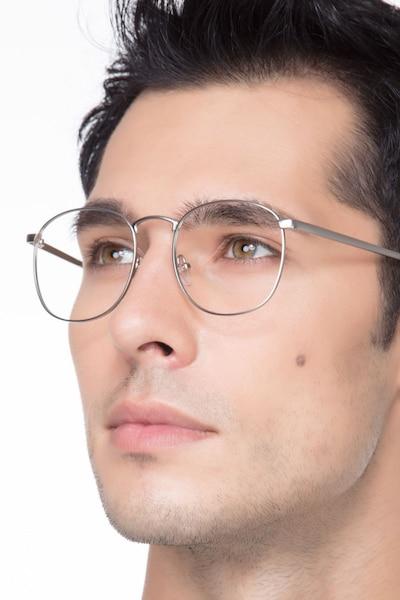 St Michel Silver Metal Eyeglass Frames for Men from EyeBuyDirect