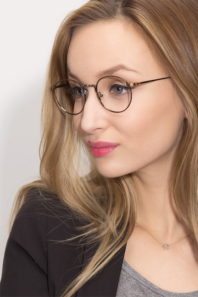 Circus Bronze Metal Eyeglass Frames for Women from EyeBuyDirect, Front View