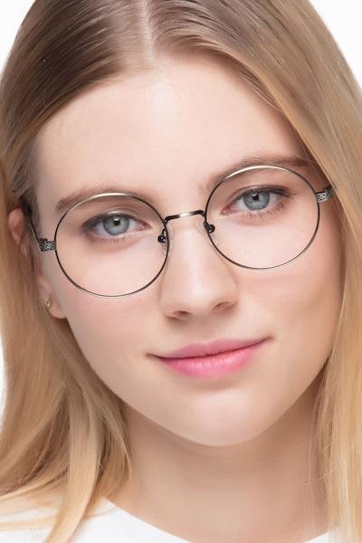 Inscription Bronze Metal Eyeglass Frames for Women from EyeBuyDirect