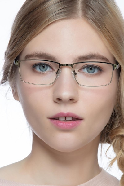 Prime Green Bronze Metal Eyeglass Frames for Women from EyeBuyDirect