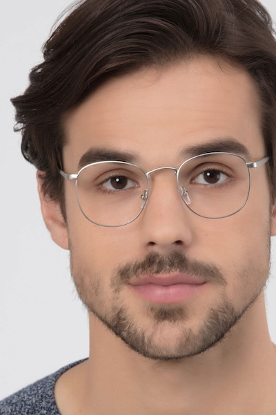 St Michel Silver Metal Eyeglass Frames for Men from EyeBuyDirect