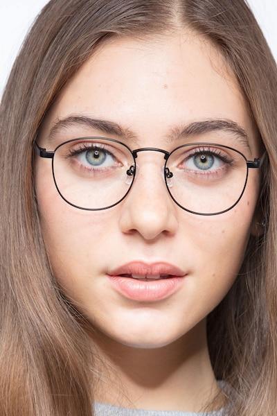 St Michel Black  Metal Eyeglass Frames for Women from EyeBuyDirect