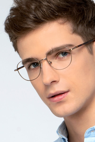Pensieve Bronze Metal Eyeglass Frames for Men from EyeBuyDirect
