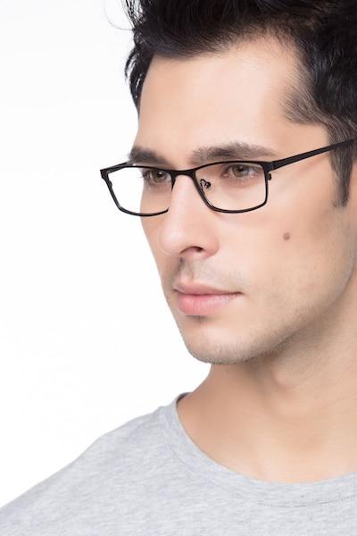 Germantown  Black  Metal Eyeglass Frames for Men from EyeBuyDirect