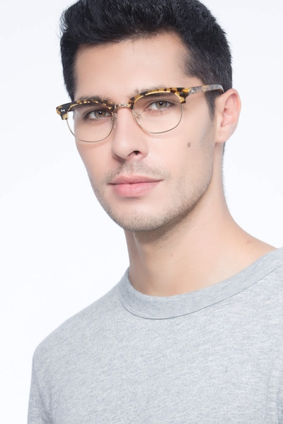 Concorde Tortoise Acetate Eyeglass Frames for Men from EyeBuyDirect, Front View
