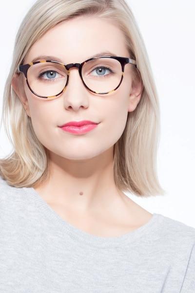 Chilling Tortoise Plastic Eyeglass Frames for Women from EyeBuyDirect, Front View