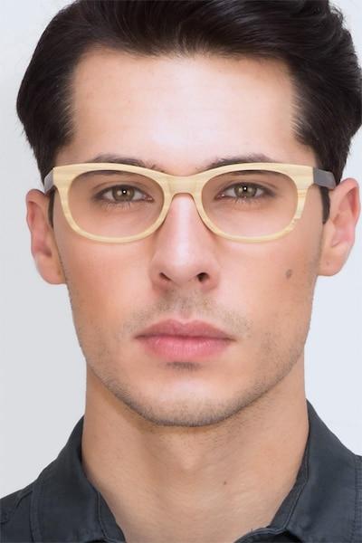 Panama Wood Acetate Eyeglass Frames for Men from EyeBuyDirect