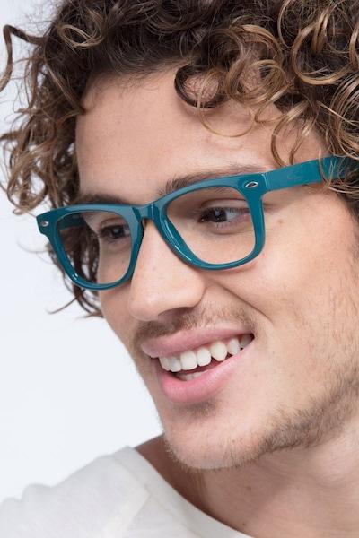 Atlee Green Plastic Eyeglass Frames for Men from EyeBuyDirect