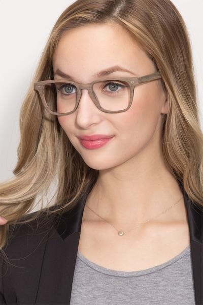 Samson  Brown Striped  Wood-texture Eyeglass Frames for Women from EyeBuyDirect
