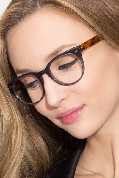 Daybreak Gray Acetate Eyeglass Frames for Women from EyeBuyDirect