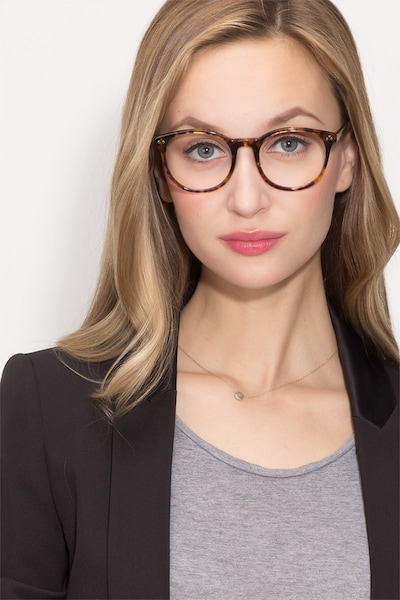 Primrose Floral Acetate Eyeglass Frames for Women from EyeBuyDirect, Front View
