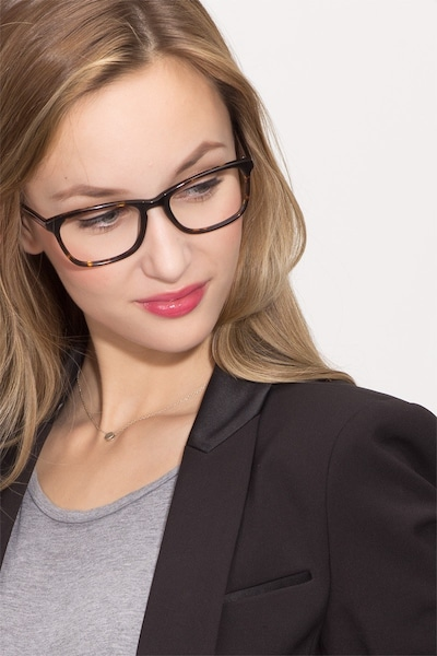 Wildfire Tortoise Acetate Eyeglass Frames for Women from EyeBuyDirect, Front View