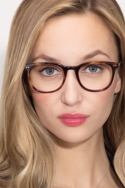 Demain Dark Tortoise Acetate Eyeglass Frames for Women from EyeBuyDirect