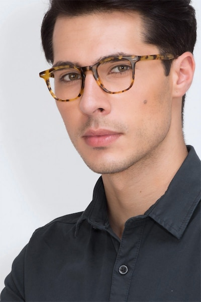 Together Tortoise Acetate Eyeglass Frames for Men from EyeBuyDirect, Front View