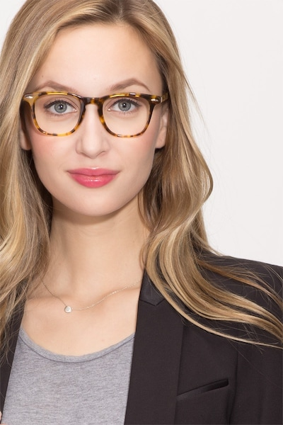 Together Tortoise Acetate Eyeglass Frames for Women from EyeBuyDirect, Front View