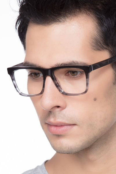 Pioneer Gray Acetate Eyeglass Frames for Men from EyeBuyDirect