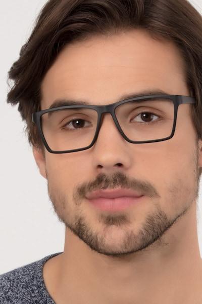 Equation Matte Black Plastic Eyeglass Frames for Men from EyeBuyDirect