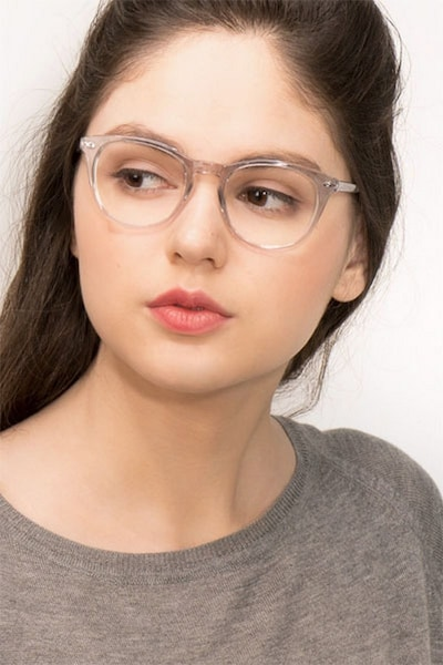 New Day Clear Acetate Eyeglass Frames for Women from EyeBuyDirect, Front View