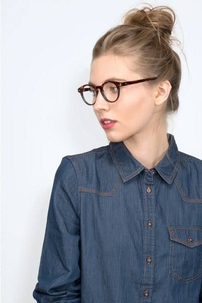 Concept Fire Stone Acetate Eyeglass Frames for Women from EyeBuyDirect, Front View