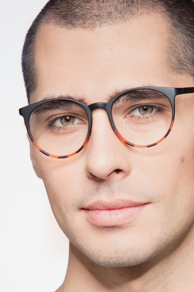 Portrait Black Tortoise Plastic Eyeglass Frames for Men from EyeBuyDirect