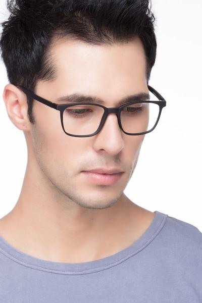 Soul Black Plastic Eyeglass Frames for Men from EyeBuyDirect, Front View