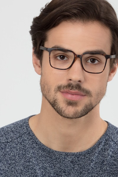 Magnus Matte Tortoise Plastic Eyeglass Frames for Men from EyeBuyDirect