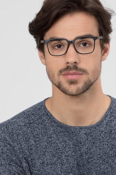 Magnus Matte Black Plastic Eyeglass Frames for Men from EyeBuyDirect, Front View