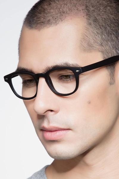 Atomic Matte Black Plastic Eyeglass Frames for Men from EyeBuyDirect