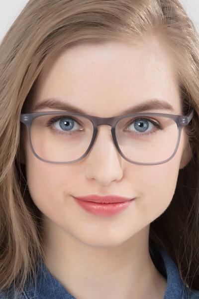 Ghent Matte Gray Plastic Eyeglass Frames for Women from EyeBuyDirect