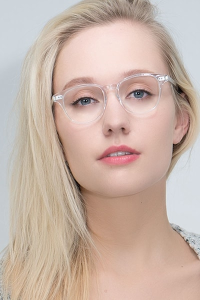 Lucid Translucent Acetate Eyeglass Frames for Women from EyeBuyDirect