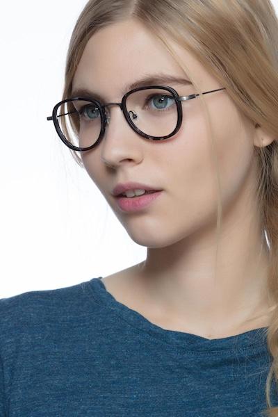 Vagabond Gray Floral Plastique Montures de Lunettes pour Femmes d'EyeBuyDirect