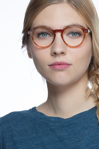 Method Brown Acetate Eyeglass Frames for Women from EyeBuyDirect, Front View