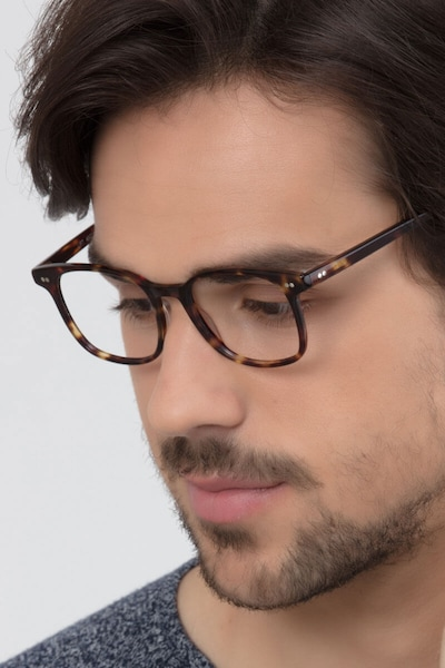Lift Tortoise Acetate Eyeglass Frames for Men from EyeBuyDirect