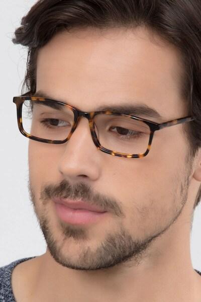 Crane Tortoise Acetate Eyeglass Frames for Men from EyeBuyDirect