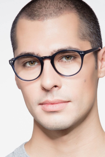 Revolution Navy Plastic Eyeglass Frames for Men from EyeBuyDirect