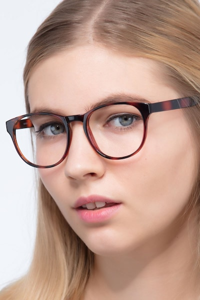 Heartbeat Brown Plastic Eyeglass Frames for Women from EyeBuyDirect
