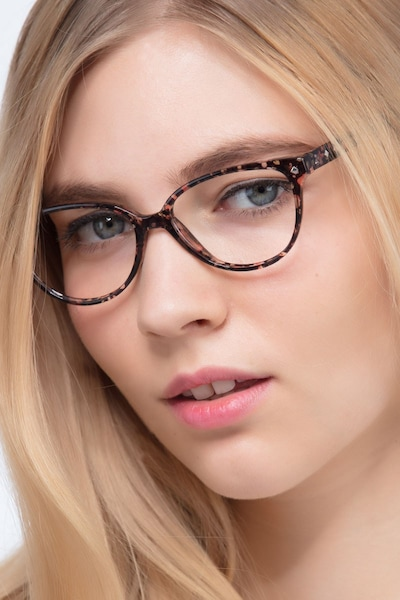 Dame Floral Plastic Eyeglass Frames for Women from EyeBuyDirect