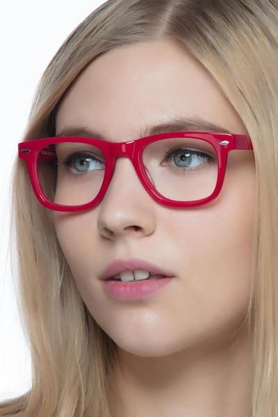 Blizzard Raspberry Acetate Eyeglass Frames for Women from EyeBuyDirect