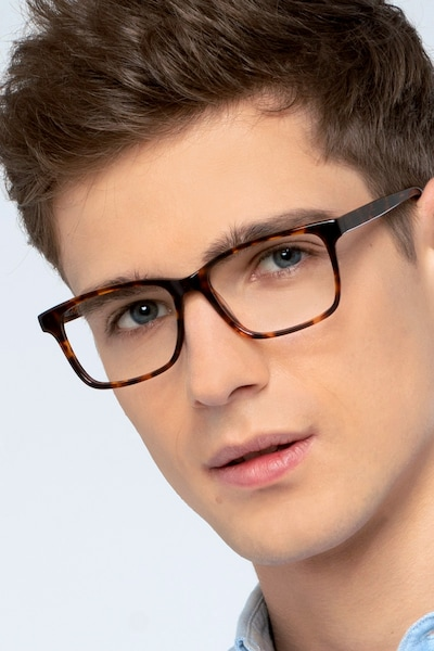 Prologue Tortoise Acetate Eyeglass Frames for Men from EyeBuyDirect