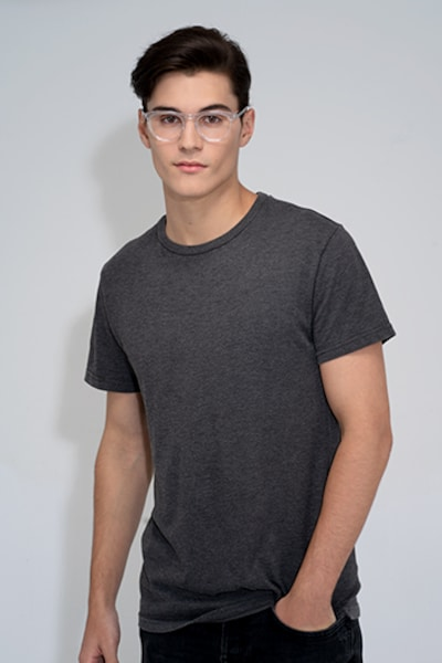 Illusion Clear Acetate Eyeglass Frames for Men from EyeBuyDirect, Front View