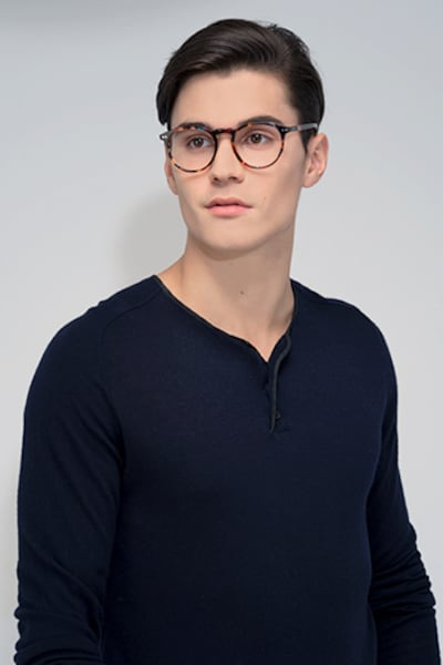 Planete Floral Acetate Eyeglass Frames for Men from EyeBuyDirect, Front View