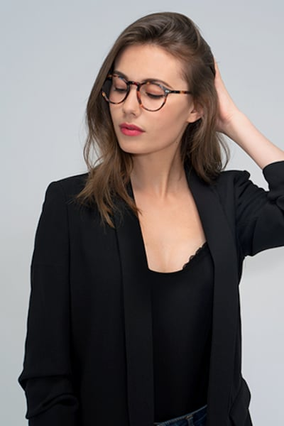 Planete Floral Acetate Eyeglass Frames for Women from EyeBuyDirect, Front View