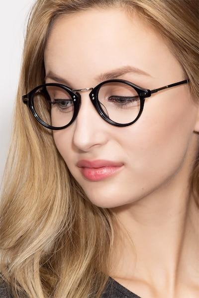 Shibuya Black Acetate Eyeglass Frames for Women from EyeBuyDirect