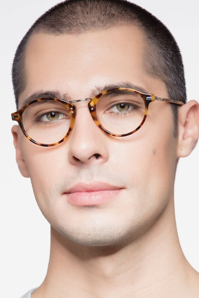 Shibuya Tortoise Acetate Eyeglass Frames for Men from EyeBuyDirect